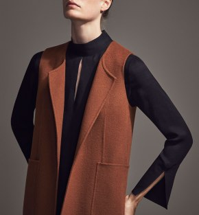 Fall MUST HAVE – Limited Edition Sleeveless Long Coat From Massimo Dutti
